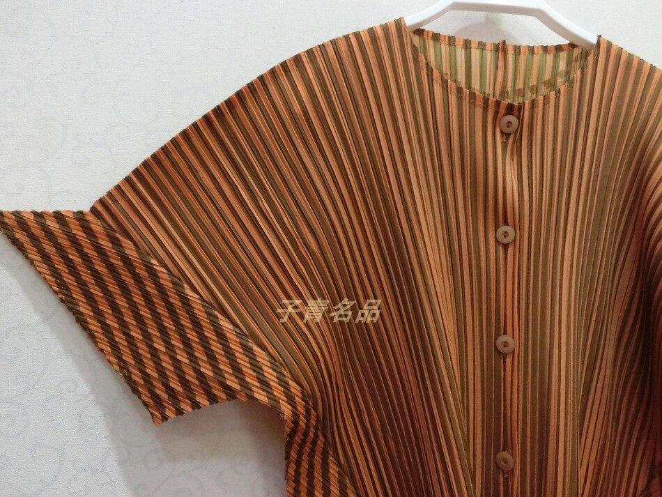 Chemise Design Chart see De Printemps Changpleat Lâche Single Blouse Femmes Plissée Chart 2019 Taille Grande See breasted Bande Nouvelle Mode Marée Miyak Chemises qXwwzx1