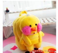 Gift voor baby 1 st 25 cm cartoon stereo creatieve verlegen geel eend pluche pop leuke kinderen rugzakken Satchel schoudertas meisje speelgoed