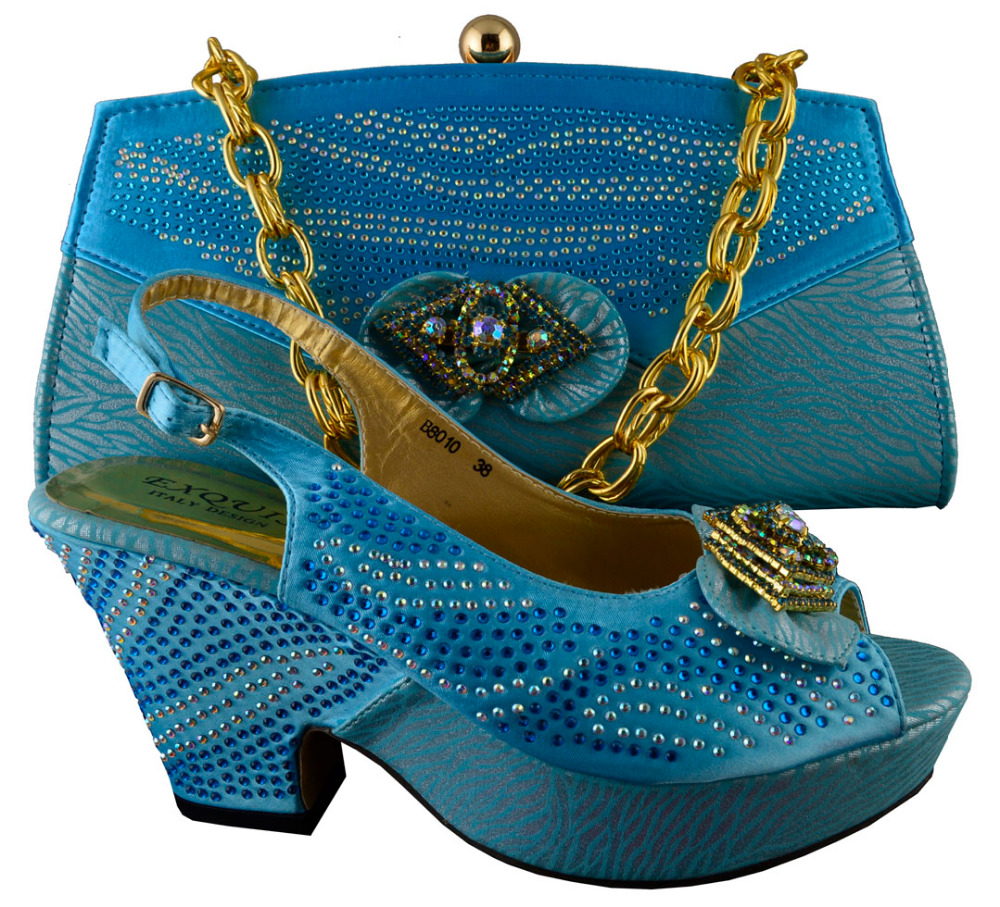 ФОТО African lady Shoes With Matching Bags Italian design Shoes and Bags Set Free Shipping.B8010 size 38-42