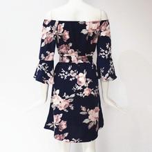 Floral Print Chiffon Dress for Women