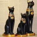 Egipto Luna Diosa Bastet Encarnación Dios Gato Artesanías Estatuilla de Resina Negro Decoración Coleccionables Creativos Accesorios Para El Hogar Regalo