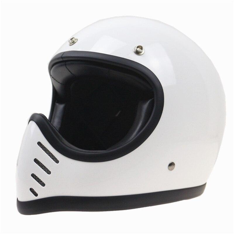8 air vents conception rétro casque léger Vintage plein visage moto casque pur à la main fraîche rembourrage loisirs et sûr