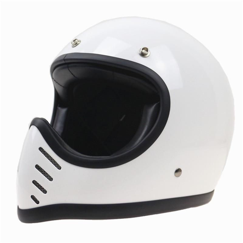 8 prese d'aria di disegno retro casco leggero Vintage del fronte pieno del casco del motociclo handmade puro fresco imbottitura per il tempo libero e sicuro