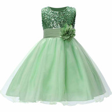 46ae868ab370 RQ-168 Summer Christmas Cute Flower Girls Dress with Sequins Mesh Girl  Clothes Without Sleeves Dresses ...