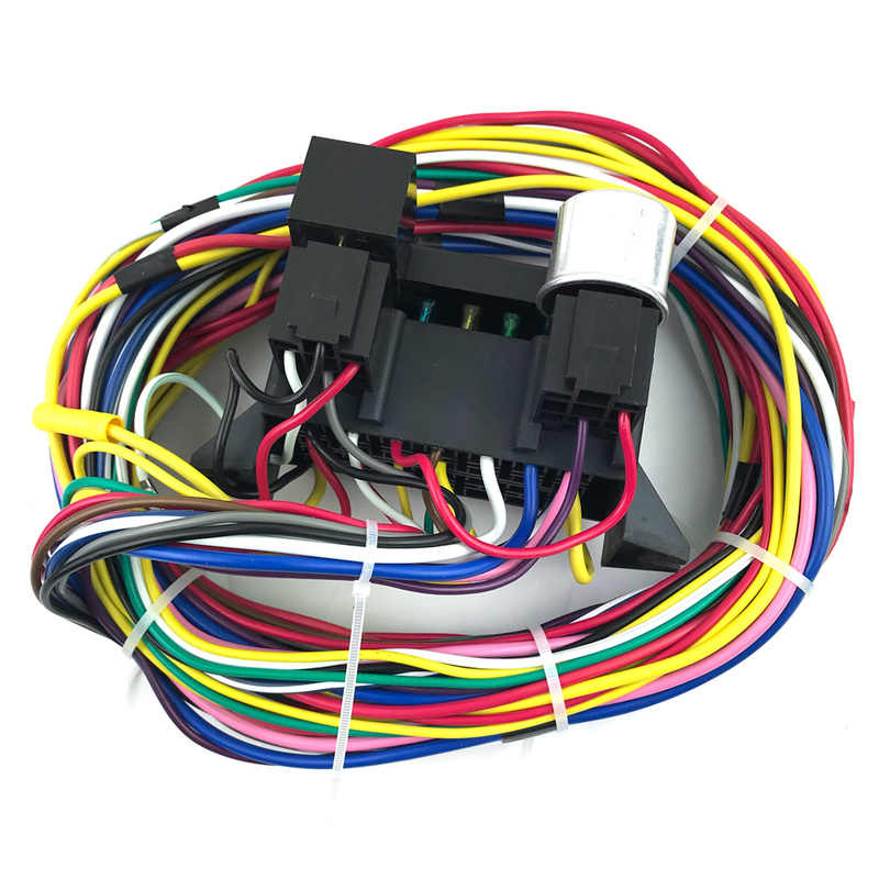 12 circuit wiring harness muscle car safety harness kit hot rod street rod xl wires complete bumper to bumper wire kit  vendor street rod wiring harness