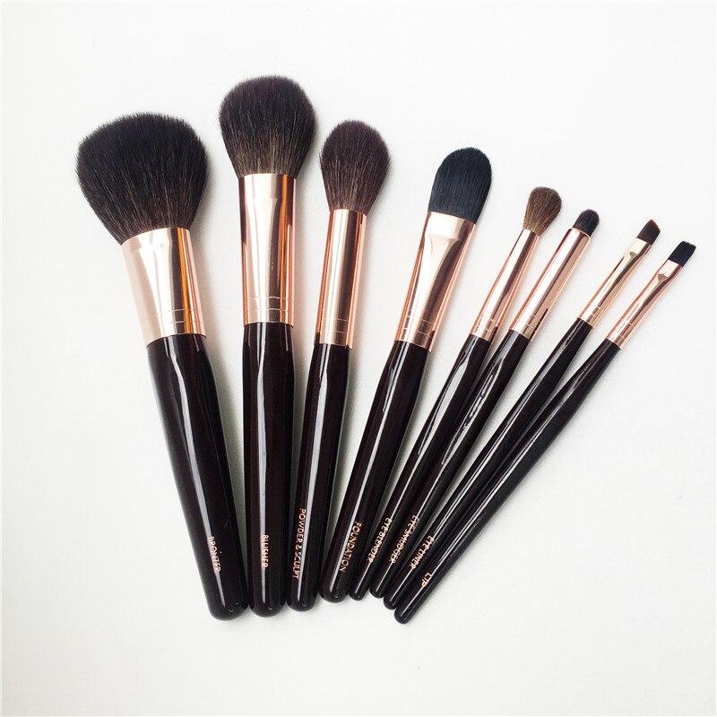 Bdbeauty 8 Brosses Ensemble Complet Bronzer/Blush/Mélangeur/Fondation/Poudre et Sculpter/Tache /lèvres/Doublure Beauté Maquillage Blender Outils-in Recourbe-cils from Beauté & Santé    2
