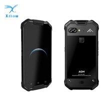 """جديد AGM X2 SE IP68 للماء الهاتف 6 GB 64 GB أنف العجل 653 الثماني النواة 5.5 """"16MP + 12MP الروبوت 7.0 NFC بصمة الذكي"""