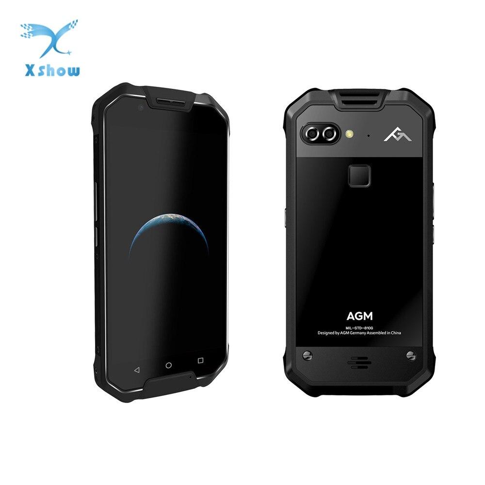 "New AGM X2 SE IP68 Waterproof Phone 6GB 64GB Snapdragon 653 Octa Core 5.5"" 16MP+12MP Android 7.0 NFC Fingerprint SmartPhonefingerprint smartphonewaterproof phoneocta core -"
