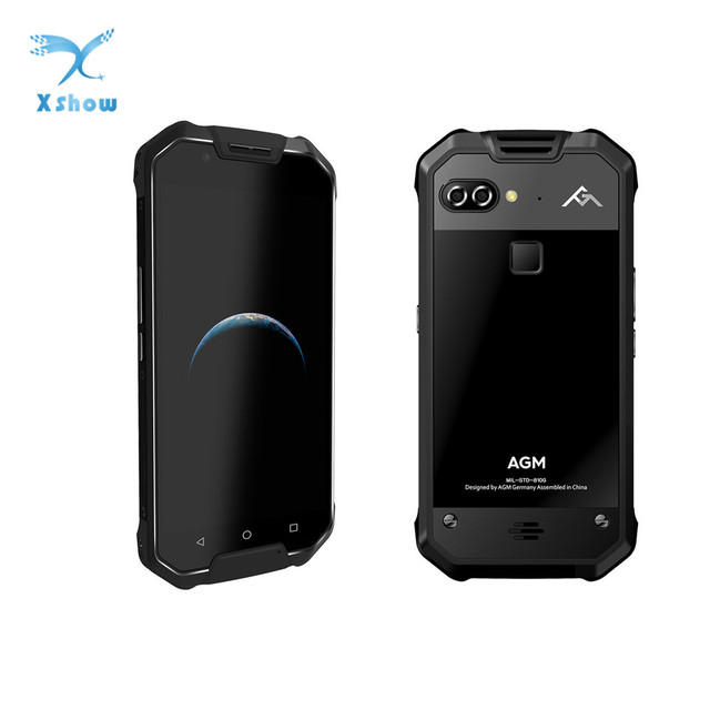 "Nieuwe AGM X2 SE IP68 Waterdichte Telefoon 6 GB 64 GB Snapdragon 653 Octa Core 5.5 ""16MP + 12MP android 7.0 NFC Vingerafdruk SmartPhone"
