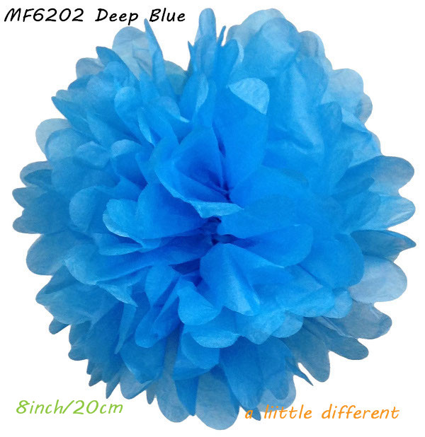 8pcslot 8inch20cmblack paper flowers rice pom poms supplies for halloween birthday childrens party decoration in party diy decorations from home - Halloween Pom Poms
