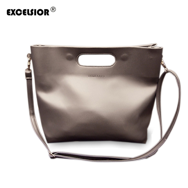 EXCELSIOR 2016 Famous Brand Luxury Women Messenger Bags PU Leather Ladies Single Shoulder Crossbody Bag Ladies Handbags Tote