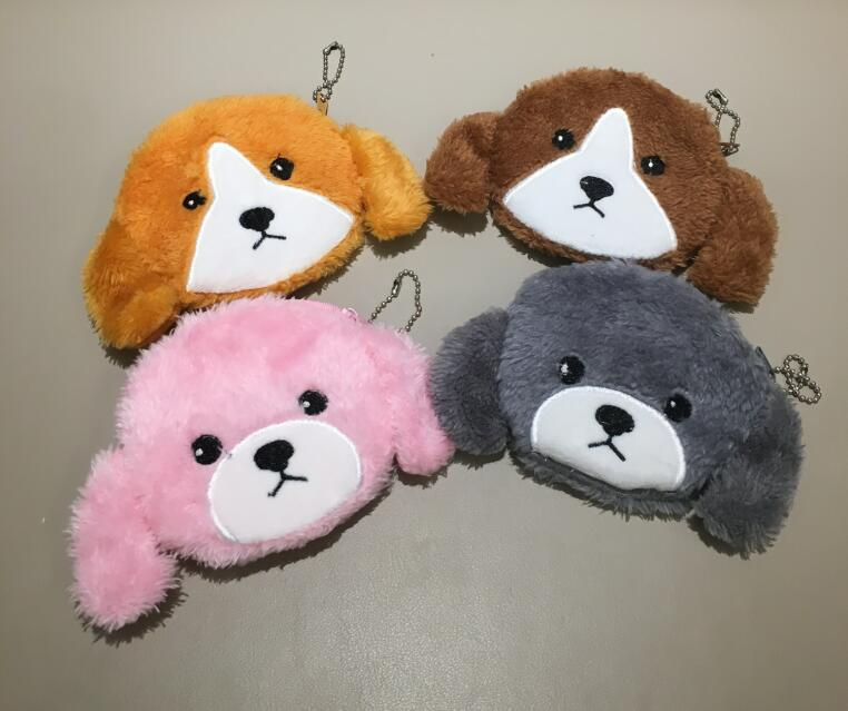 Popular 4colors,- Plush Purse , Plush Pocket Coin Bag , Dog Plush Purse , Coin Wallet Bag