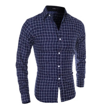 ZOGAA Mens Casual Shirts for Men Long Sleeved Classic Plaid Cotton Sweatshirt