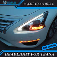 LED Head Lamp For Nissan Teana LED Headlight 2013-2015 for Altima LED Stripes Xenon Front Light Projector Lens