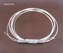 Free shipping GONGFENG 10PCS New Single Mode 1:2 Optical Fiber Splitter 0.9mm Bare Mini SteelTube Bundle Connector