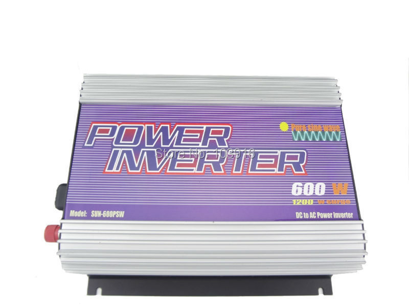 600W Inverter PURE SINE WAVE 12V/230V/50Hz, for solar system, for photovoltaic, MS-PSW-600-12B