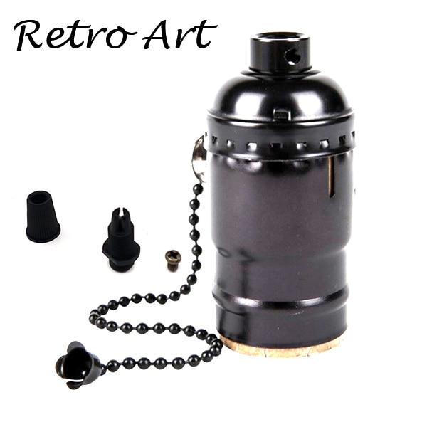 Алюминиевый патрон Эдисона с выключателем E26 E27 винтажный подвесной патрон - Цвет: Z-Pearl Black