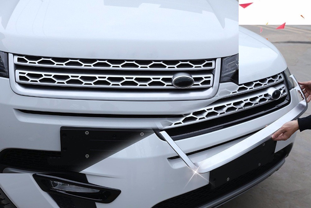 ABS Chrome U-Shape Front Grille Cover Frame Trim For Land Rover Discovery Sport 2015 - 2018 Car Accessories все цены