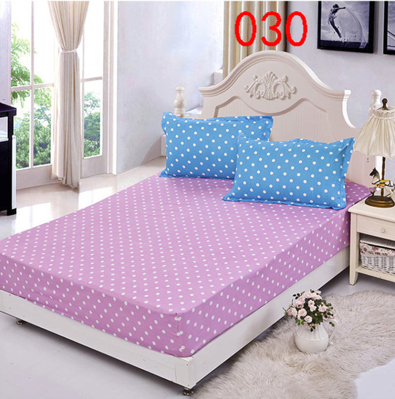 Attractive Fashion Dots Polyester Fitted Sheet Single Double Bed Sheets Fitted Cover  Twin Queen Mattress Cover Bedspread Bedsheet 180x200cm In Sheet From Home U0026  Garden ...