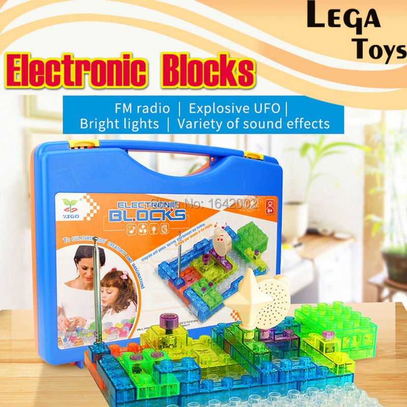 120 Projects Electronics Blocks kit Kids Toys Snap circuits Electronics Discovery Kit Lighted Bricks Science Educational Toys