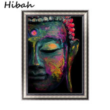 DIY abstract diamond cross stitch painting Buddhist buddha painting 3D picture circular diamond mosaic decorating Buddha(China)