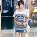T Shirt women 2017 Cotton White T-shirt Camisetas Y Tops Mujer Kawaii Tee Shirt Femme Summer Style loose korean stripe tshirt