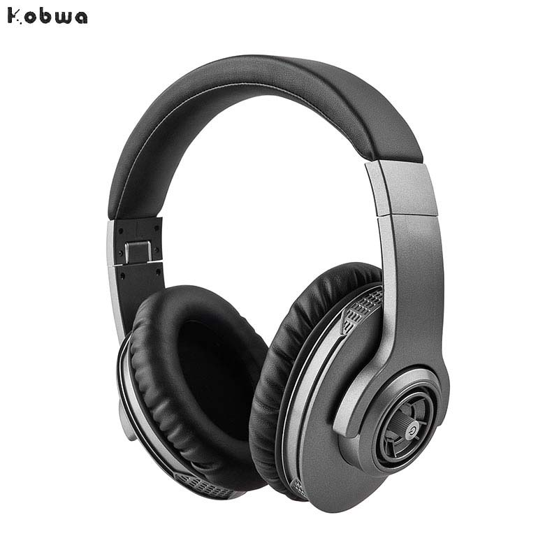 Wireless Leather Bass Headphones Bluetooth Noise Cancelling Stereo Foldable For Pc With Microphone Bluetooth Gaming Headset tronsmart encore s6 bluetooth headphones active noise cancelling wireless headphone gamer gaming foldable design headset