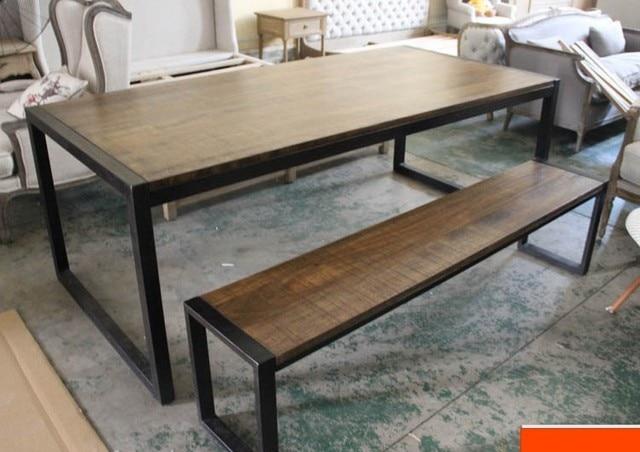 d 39 epoca in legno massello mobili ferro battuto tavolo da pranzo panca paese americano a fare. Black Bedroom Furniture Sets. Home Design Ideas