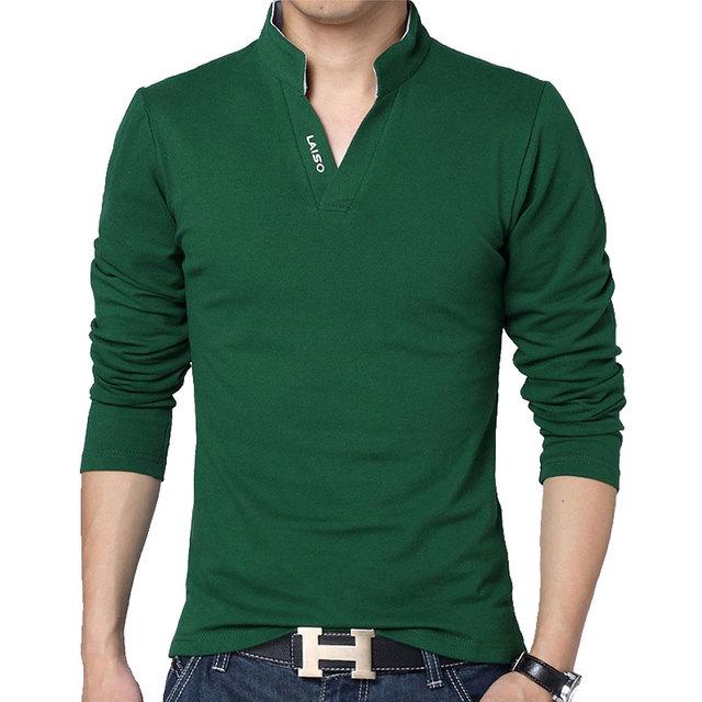 Hot Sale New 2019 Fashion Brand Men polo shirt Solid Color Long-Sleeve Slim Fit Shirt Men Cotton polo Shirts Casual Shirts 5XL