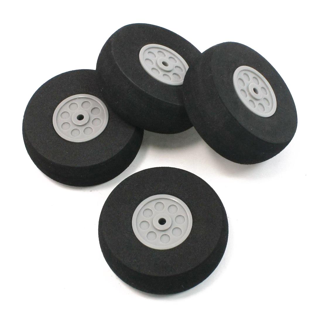4 Pcs Gray Plastic Hub Black Foam Wheel 55mm Dia for RC Aircraft Model Toy игрушка ecx ruckus gray blue ecx00013t1