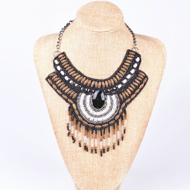 Handmade Embroidery Necklace Indian Tribe style
