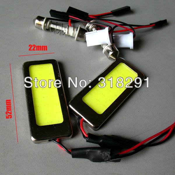 free shipping Wholesale White 5W COB Chip LED Car Interior Light T10 Festoon Dome Adapter 12/24V, Car Vehicle LED Panel