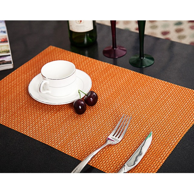 2 Pcs Lot Placemat For Dining Table Pvc Placemats Hot Mat Coaster Pad
