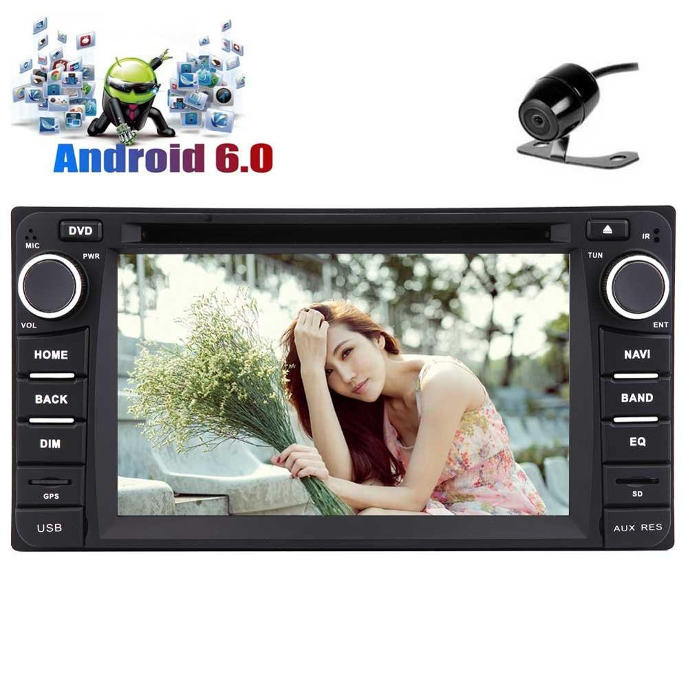 for TOYOTA Android 6.0 Car Stereo for TOYOTA Corolla Din GPS Navigtion Car DVD Player Autoradio Headunit Support 1080P/WiFi/OBD2