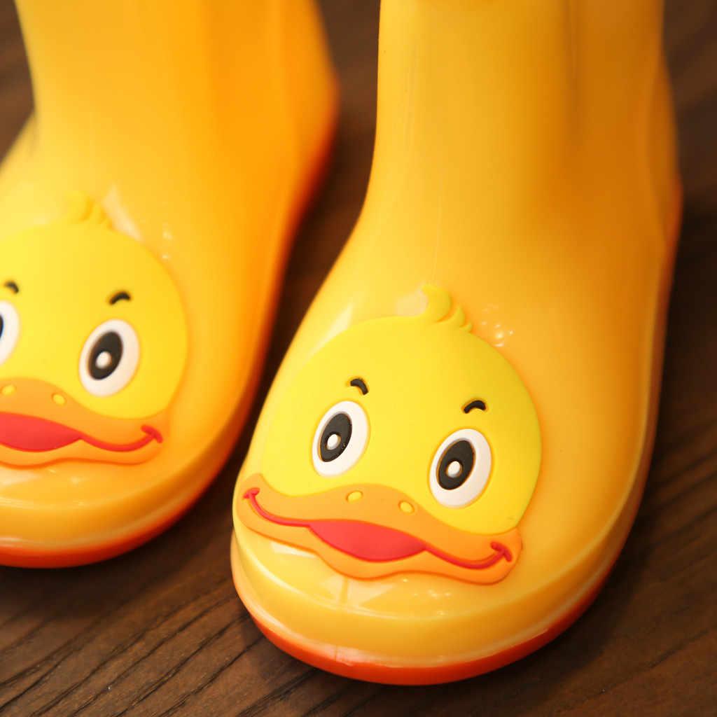 น่ารักคลาสสิกรองเท้ายางPVCเด็กทารกการ์ตูนรองเท้าเด็กเด็กผู้หญิงกันน้ำฝนรองเท้ารองเท้าน้ำ