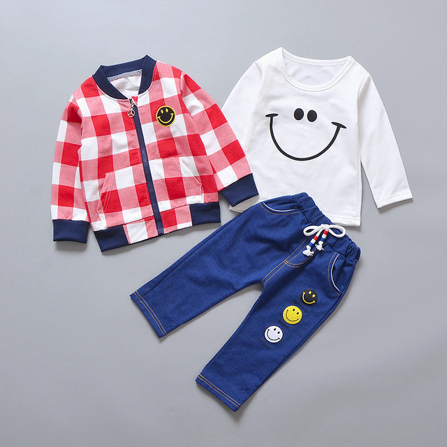 Baby Boy's Casual Cotton Long Sleeve Clothing Set