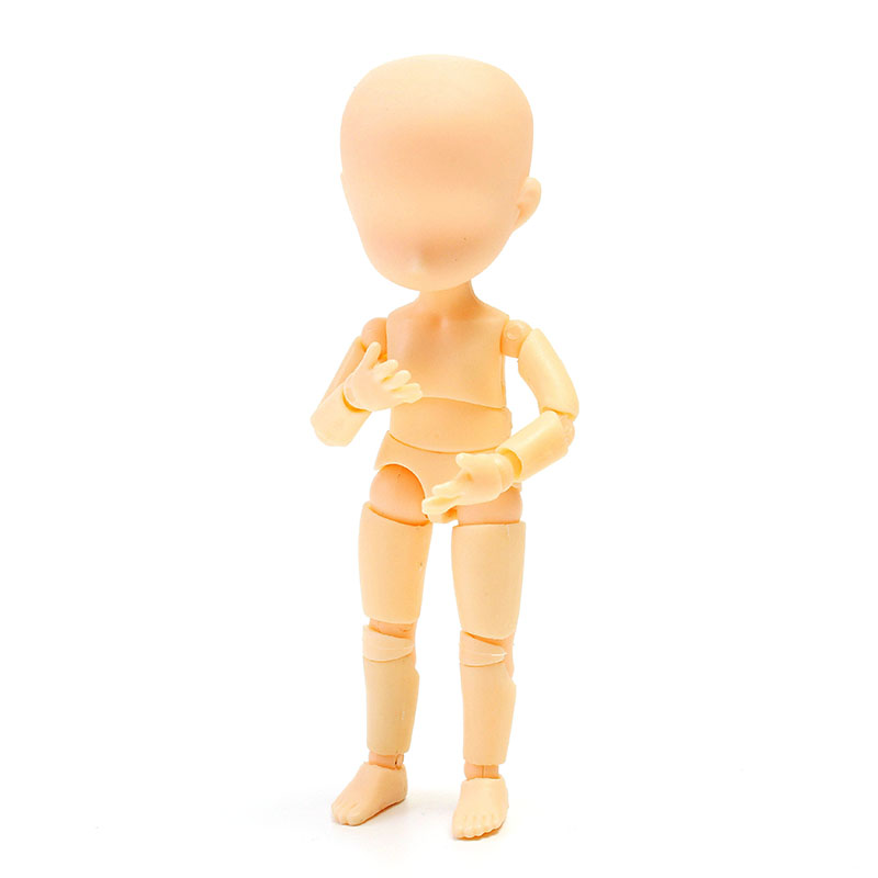 Lovely Childhood Mini Model Doll Painting Props Sketch Dolls Cute Edition Resin DIY Figure Model Toys 17 16 6cm in Action Toy Figures from Toys Hobbies