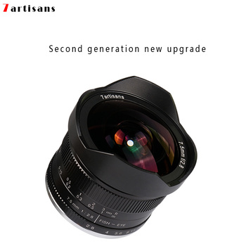 7artisans 7.5mm f2.8 fisheye lens 180 APS-C Manual Fixed Lens For E Mount Canon EOS-M Mount Fuji FX Mount Hot Sale Free Shipping 1
