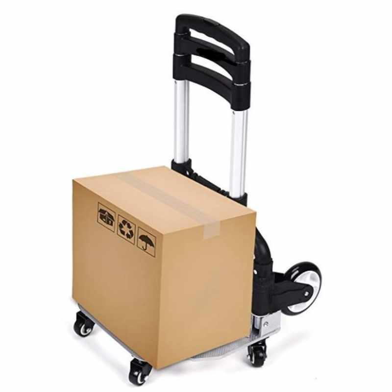 משלוח חינם, נייד, מתקפל יד משאית, אלומיניום נייד, גובה מתכוונן עגלת שירות, עם 2 גלגלים או 6 גלגלים
