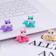 48 sztuk/partia kreatywny Cartoon kolorowe wiewiórka konia zwierząt gumka do mazania/artykuły papiernicze dla dzieci studentów/miły prezent gumka
