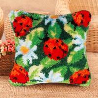 new fashion style Latch Hook DIY Needlework Unfinished Crocheting Cushion Mat Embroidery Home Decor latch hook dog