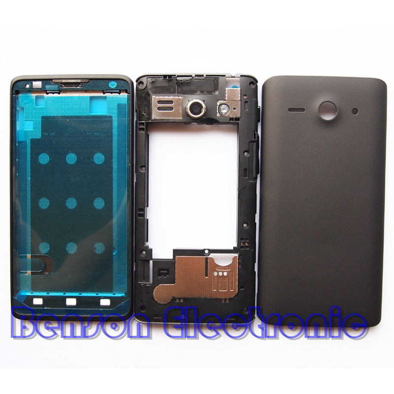 imágenes para BaanSam Nueva Holder LCD Marco Frontal Medio Marco de la Caja de la Cubierta de Batería de La Contraportada Para Huawei Y530 Con Botón de Volumen de Energía + antena