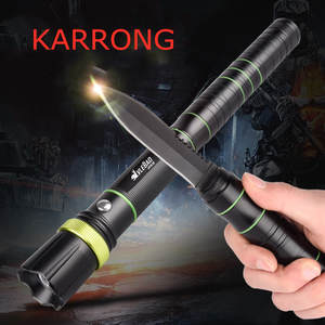 KARRONG Portable Flashlight Outdoor Multifunction Night-Camping with Knives-Rotating