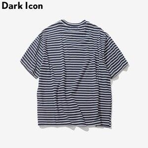 Image 2 - Darkไอคอนกุหลาบเย็บปักถักร้อยลายMensเสื้อยืดแขนสั้น2019ฤดูร้อนHi Streetขนาดใหญ่Hip Hop Tshirtผ้าฝ้ายTeeเสื้อ