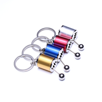 Universal Funny Zinc Alloy 6 Speed Manual Gearbox Transmission Car Keychain Gear Box Lever Key Chain Key Ring Car Accessories