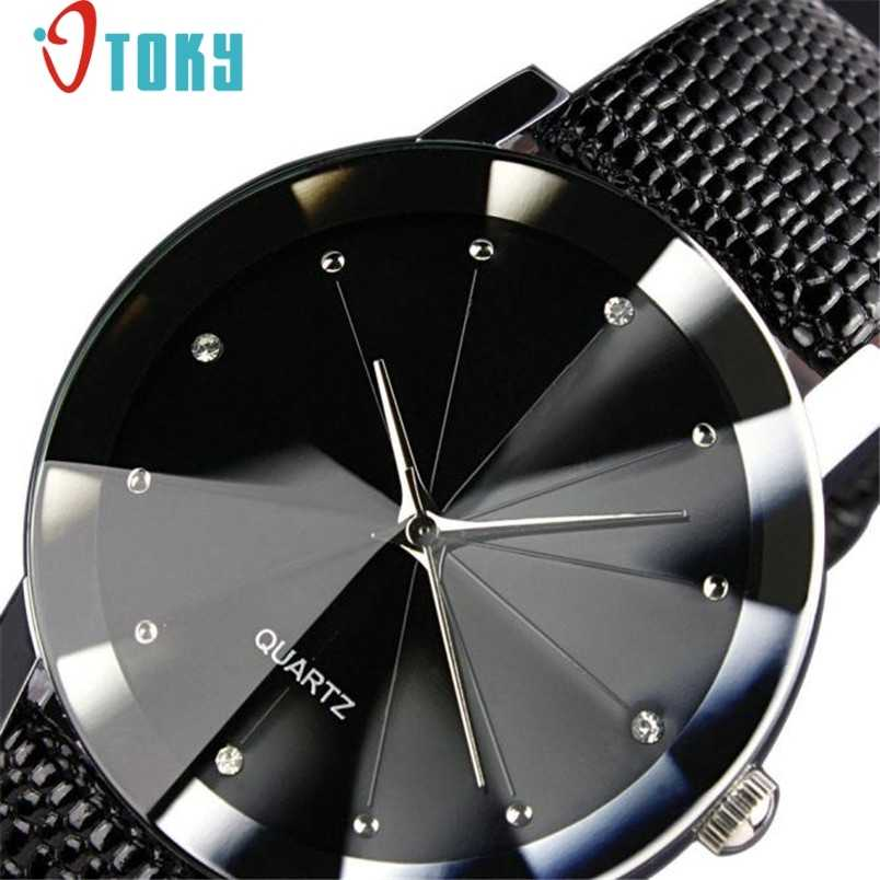 Hot Hothot Pria Mewah QUARTZ Olahraga Militer Stainless Steel Dial Leather Band Wrist Watch 2019 FF