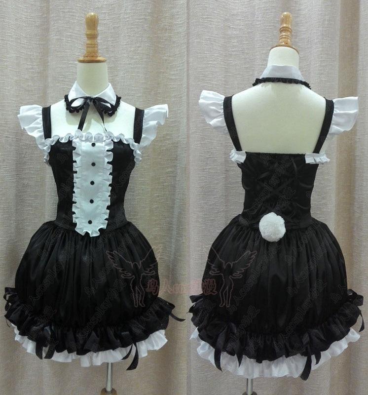 Popular Anime Sexy Rabbitgirl Dress Super Sonico Sonico Rabbitgirl Maid Dress Cosplay Costume Custom Made