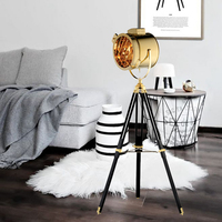 Nordic Floor Lamp Search floor Light wood Tripod leg metal lampshade Lights Fixture chrome gold chrome color bulb standing lamp