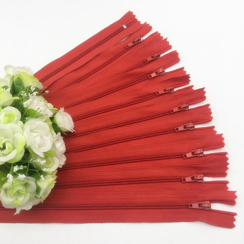 10 шт. 8 дюймов(20 см) нейлоновая катушка молнии портной шитье ремесло аксессуары для одежды Crafter's DIY Одежда Подушка инструмент портного - Цвет: Red