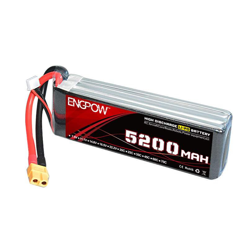 Rechargeable Lipo Battery ENG Power 14.8V 5200mAh 45C 4cell LipoBattery XT60 Plug For RC MUltirotor Parts стоимость